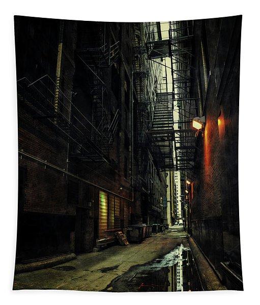 Dark Chicago Alley Tapestry