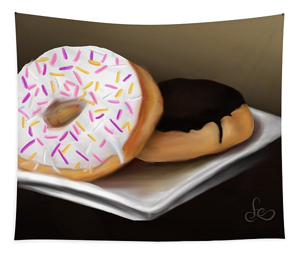 Tapestry featuring the painting Doughnut Life by Fe Jones