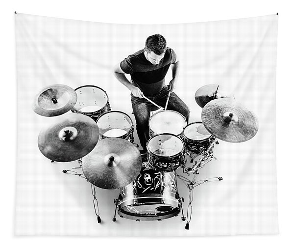 Drummer From Above Tapestry