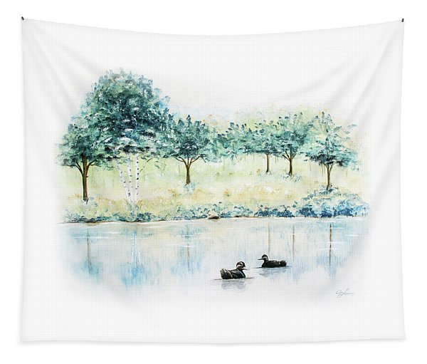 Ducks On Lake Tapestry