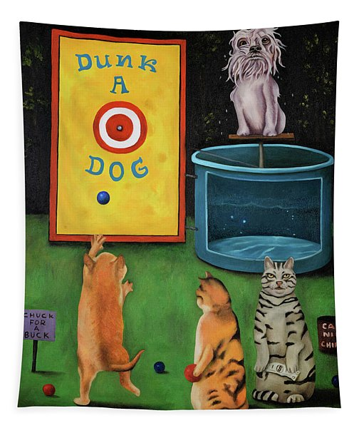 Dunk A Dog Tapestry