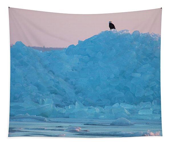 Eagle On Ice Mackinaw City 2261803 Tapestry