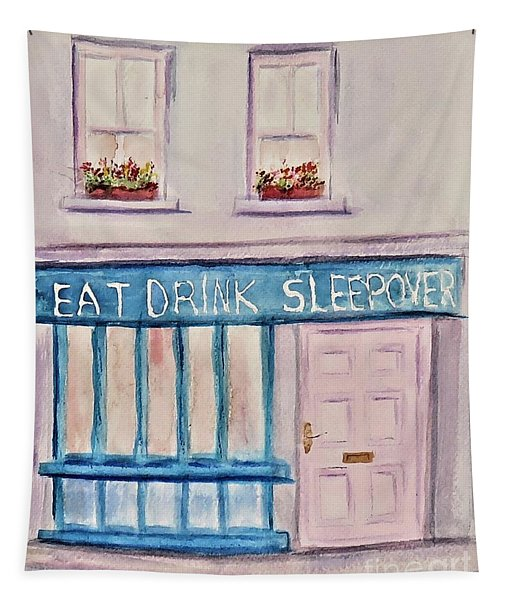 Eat Drink Sleepover Tapestry