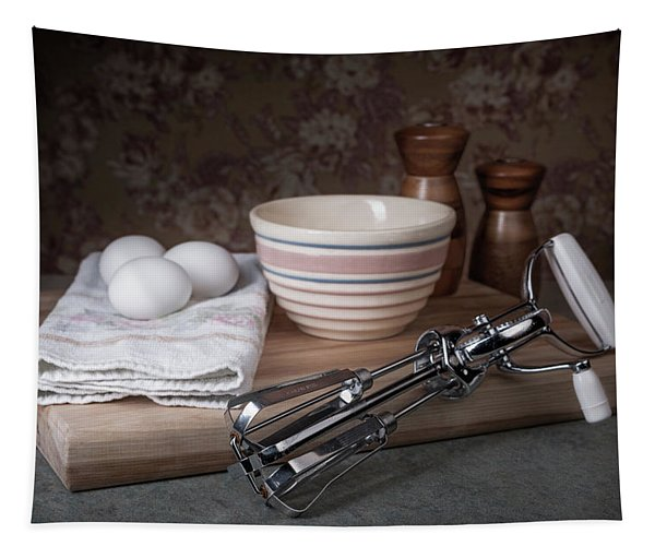 Eggbeater And Eggs Still Life Tapestry