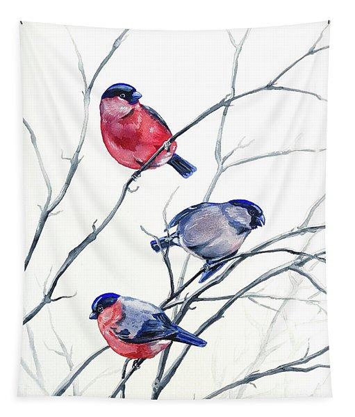 Eurasian Bullfinches Tapestry