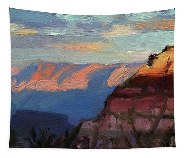 Evening Light At The Grand Canyon Tapestry
