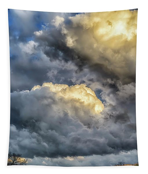 Evening Storm Clouds Tapestry