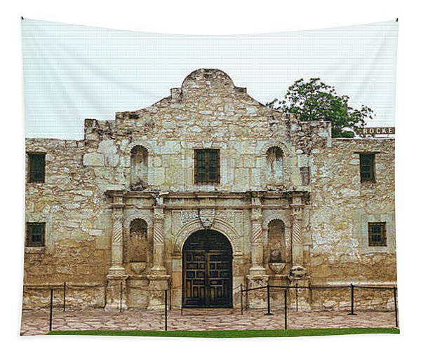 Facade Of The Alamo Mission In San Tapestry