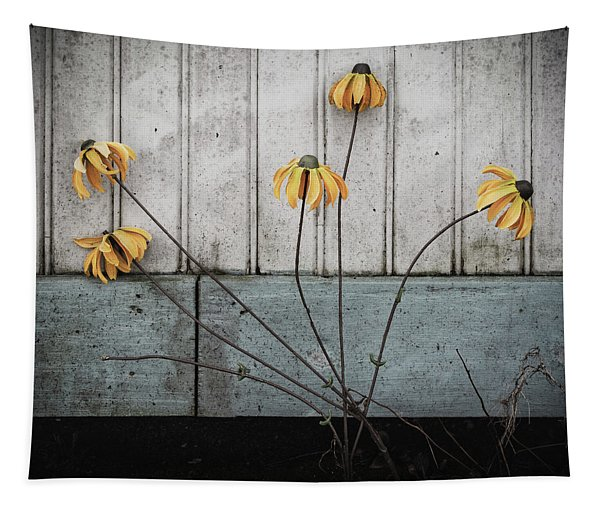 Fake Wilted Flowers Tapestry