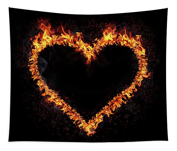 Fire Heart Tapestry