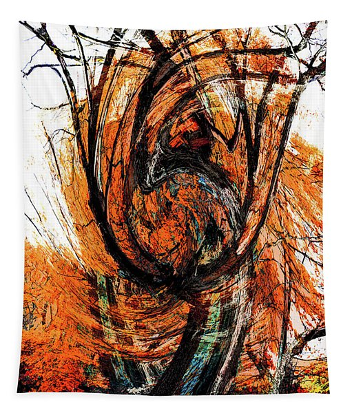 Fire Tree 2 Tapestry