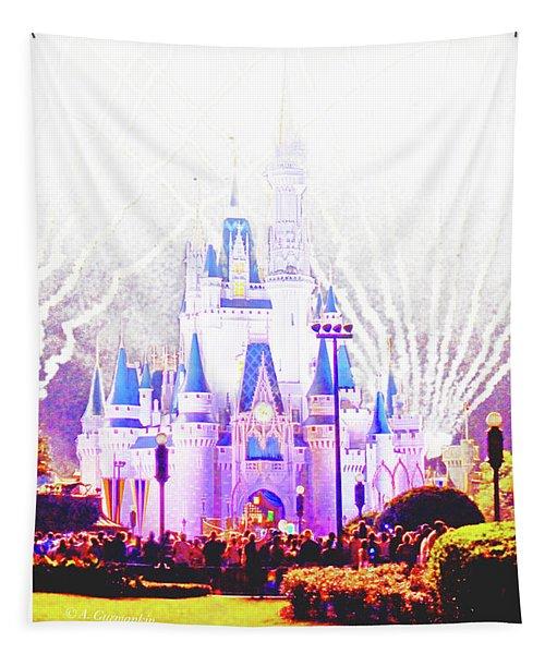 Fireworks, Cinderella's Castle, Magic Kingdom, Walt Disney World Tapestry