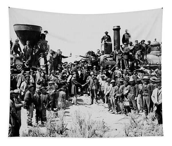 First Opening Of The Transcontinental Railroad - 1869 Tapestry