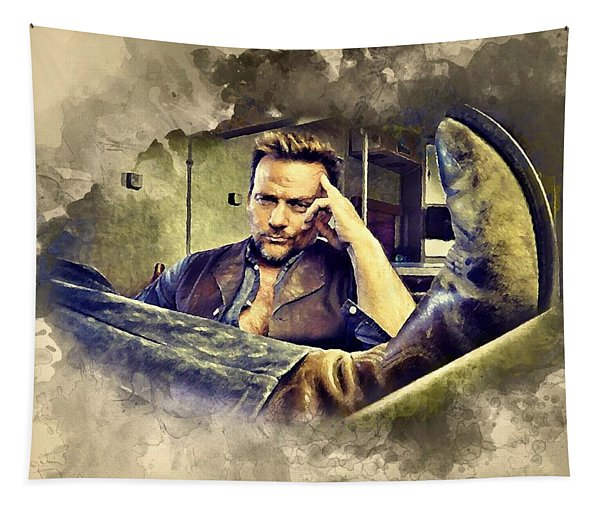 Flanery And His Cowboy Boot Tapestry