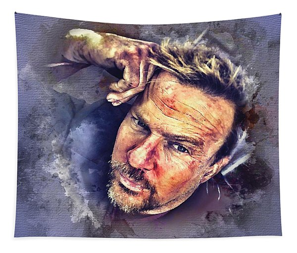Flanery Watercolor Tapestry