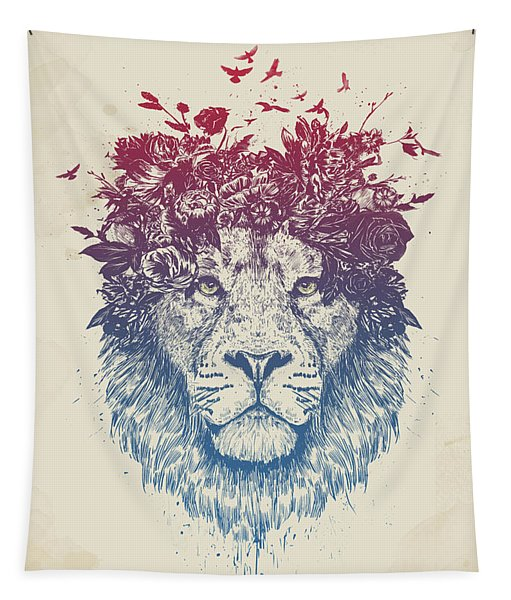 Floral Lion IIi Tapestry