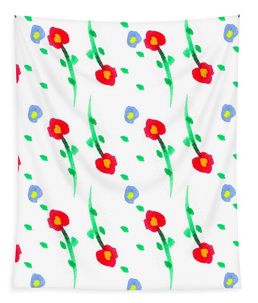 Floral Pattern Tapestry