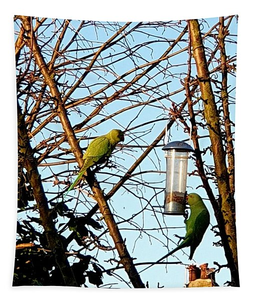 Garden Parakeets Tapestry