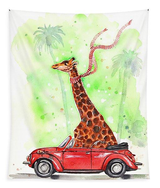 Giraffe In A Beetle Tapestry