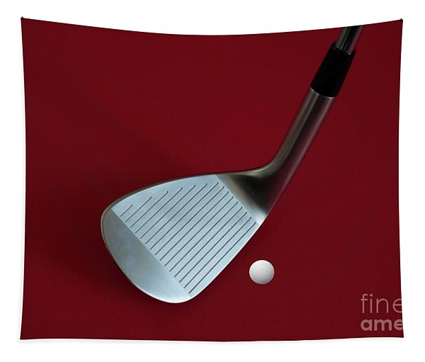 Golf Club Wedge And Golf Ball Tapestry
