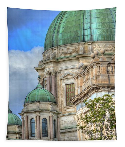 Green Dome's Of Italy Tapestry