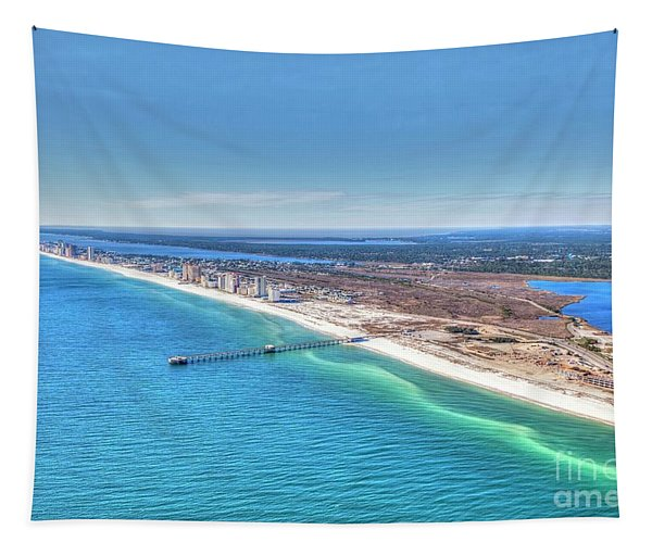 Gsp Pier And Beach Tapestry