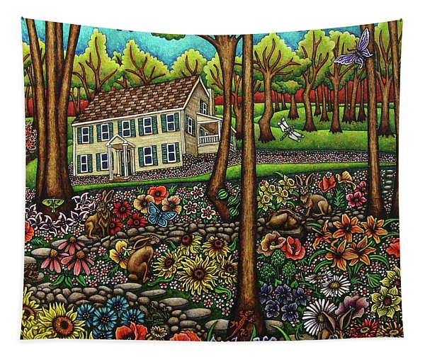 House In The Meadow  Tapestry