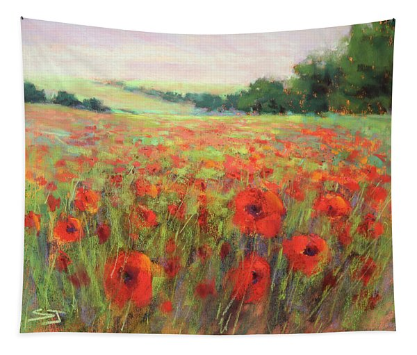 I Dream Of Poppies Tapestry