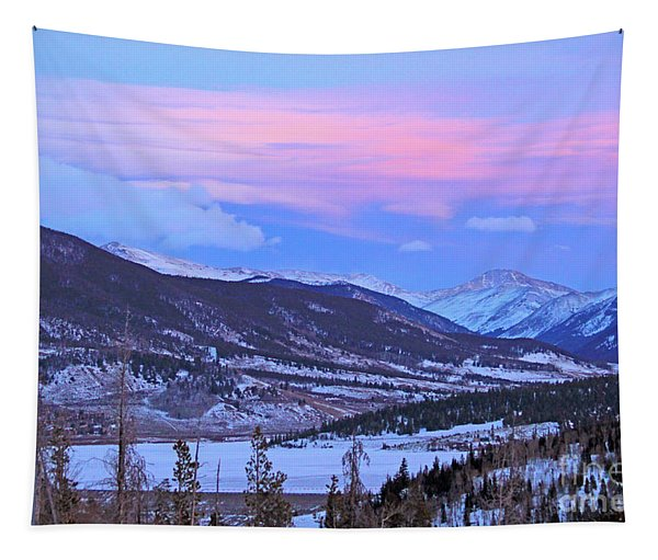 Ice Pink Clouds  Tapestry