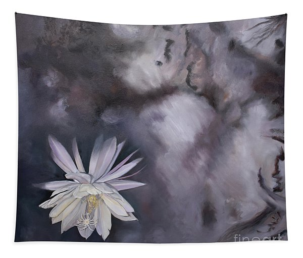 In The Shadows-night Blooming Cereus Tapestry