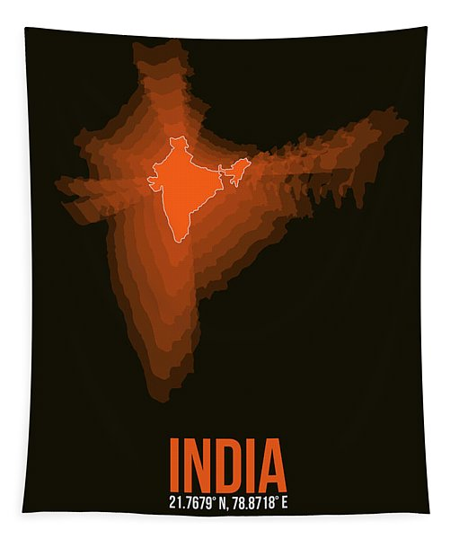 India Radiant Map 1 Tapestry