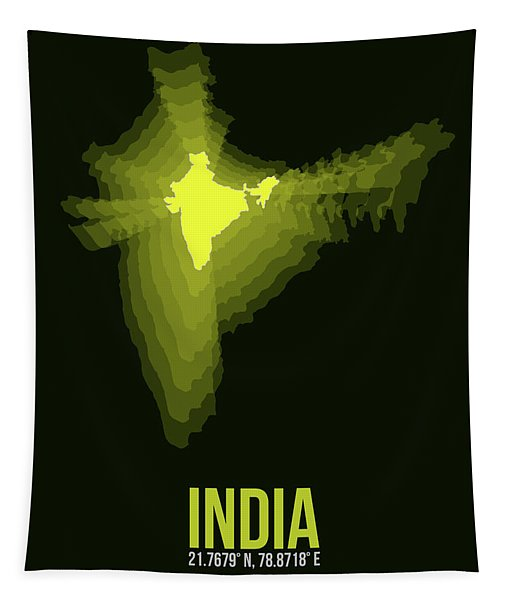 India Radiant Map 2 Tapestry
