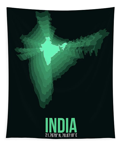 India Radiant Map 3 Tapestry