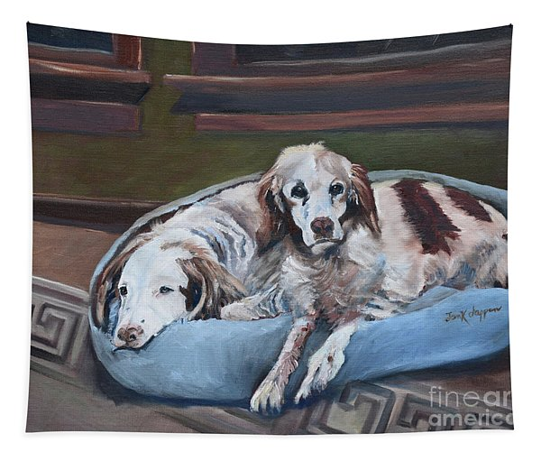 Irish Red And White Setters - Archer Dogs Tapestry