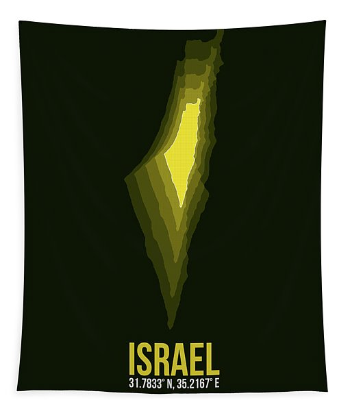 Israel Radiant Map 2 Tapestry