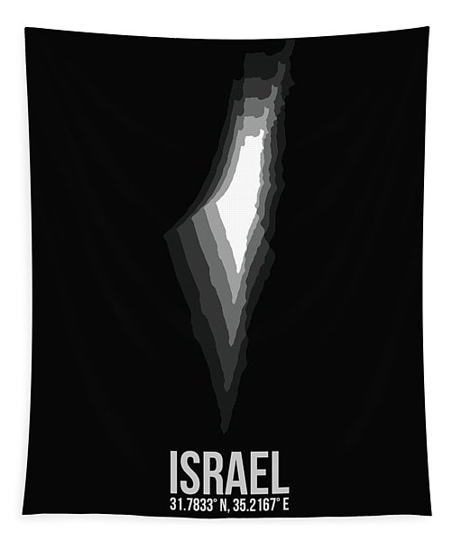 Israel Radiant Map 3 Tapestry