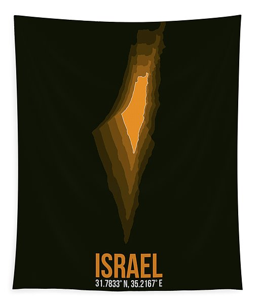 Israel Radiant Map 4 Tapestry