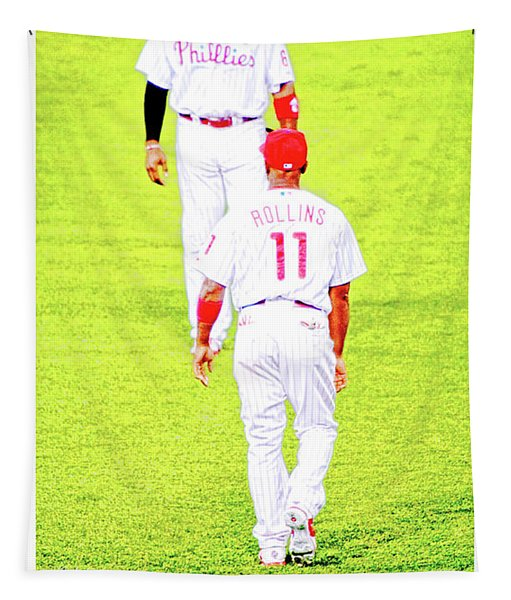 J Roll And The Big Piece, Ryan And Rollins, Phillies Greats Tapestry