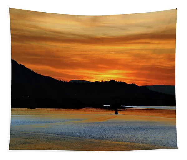 Juneau Alaska Sunset 2019 Tapestry