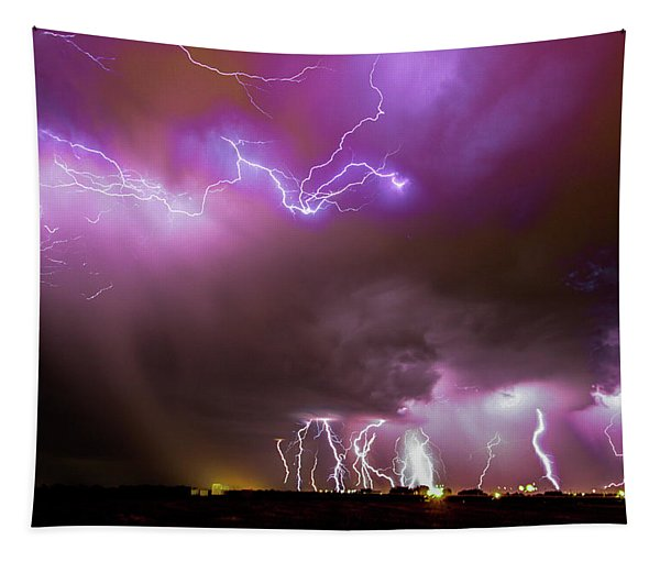 Tapestry featuring the photograph Just A Few Bolts 001 by NebraskaSC