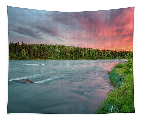 Kenai River Alaska Sunset Tapestry