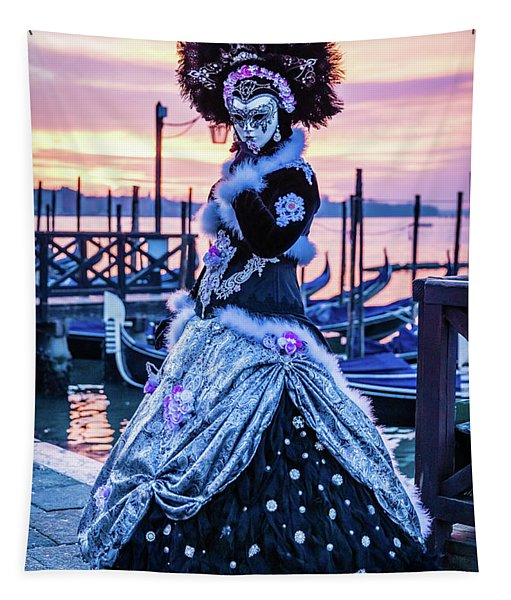 Lady In Black Tapestry
