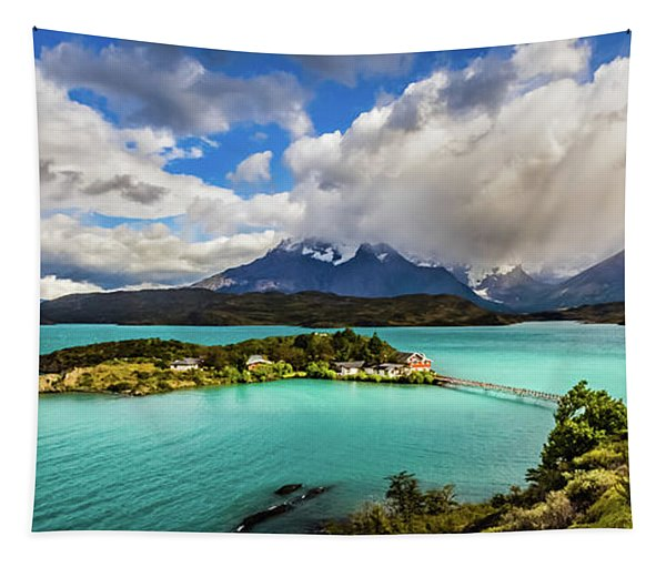Lago Pehoe, Chile Tapestry