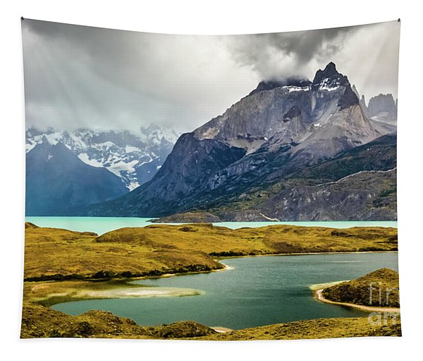 Laguna Larga, Lago Nordernskjoeld, Cuernos Del Paine, Torres Del Paine, Chile Tapestry