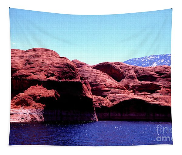 Lake Powell And Navajo Mountain Tapestry