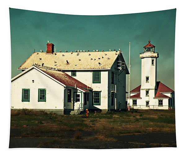 Lighthouse At Port Townsend Tapestry