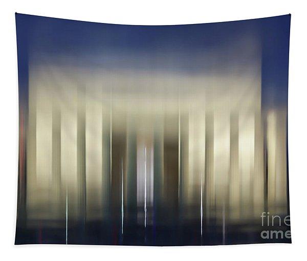 Lincoln Memorial Reflection At Night Washington Dc Tapestry