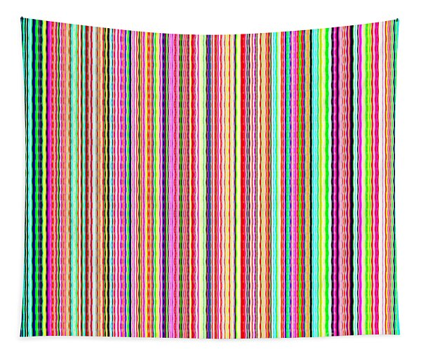 Lines In Colorful Watercolor Style - Qdc500 Tapestry