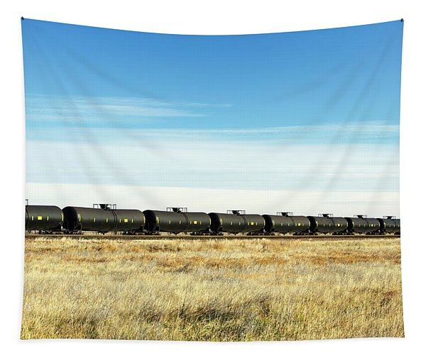 Long Line Of Cars Tapestry