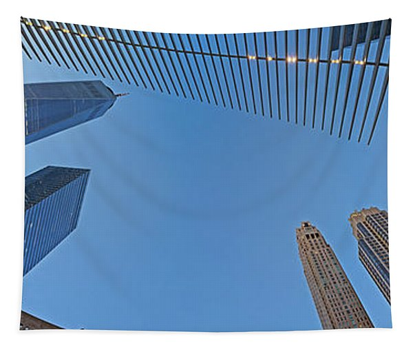 Low Angle View Of Skylines, Manhattan Tapestry